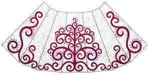 Ya sabemos el diseño del manto que lucirá la virgen en la ofrenda de flores.