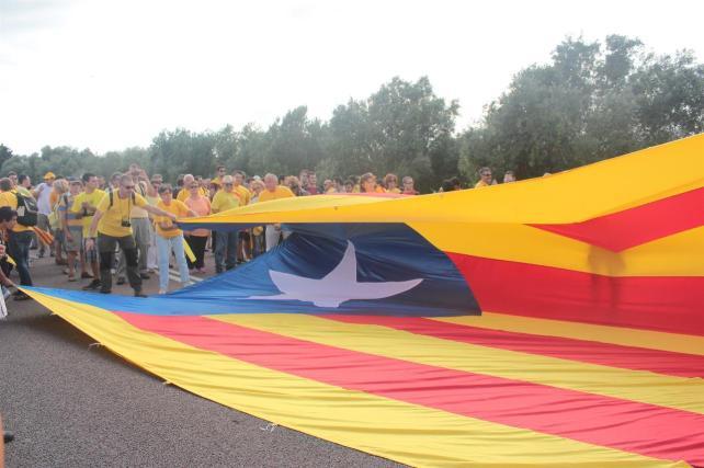 Voltregà aspira ser el punto de Catalunya con más 'estelades' colgadas por habitante