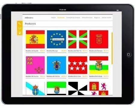 App para comprar banderas mediante dispositivos móviles