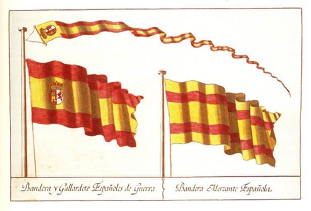 Así nació la actual bandera de España