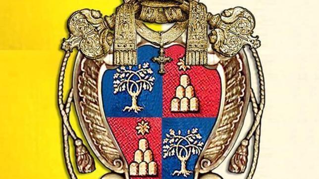 Las Angustias estrenará una bandera pontificia con el escudo que hizo el autor italiano para la columnata de San Pedro