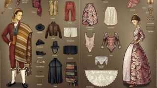 La indumentaria del s. XVIII se normaliza