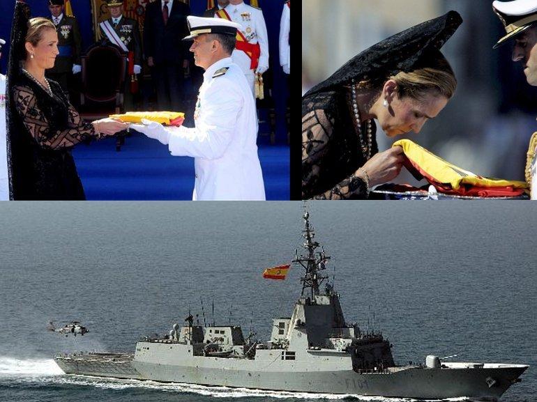 Artesanía Bordada confecciona la bandera de combate a la Fragata Méndez Núñez.